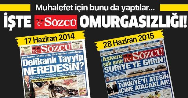 Sözcü Gazetesi'nden büyük omurgasızlık!