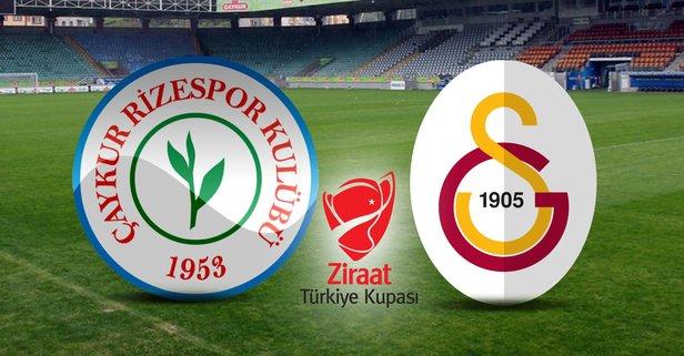 Rizespor-Galatasaray maçı hangi kanalda?