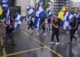 Skandal hareket! Irkçı eylemde KKTC bayrağı yakıldı