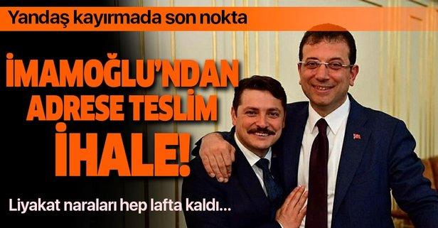 Ekrem İmamoğlu'ndan adrese teslim ihale!