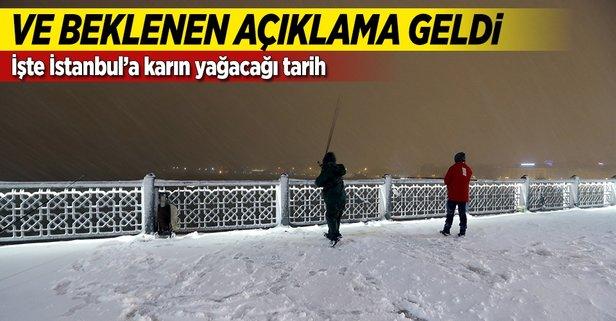 Ve beklenen açıklama geldi! İşte İstanbula karın yağacağı tarih