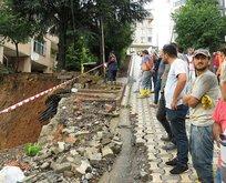 Sancaktepe'de bir binada çökme riski