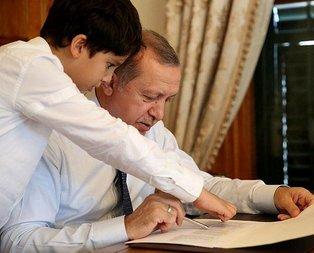 Başkan Erdoğanın torun sevinci