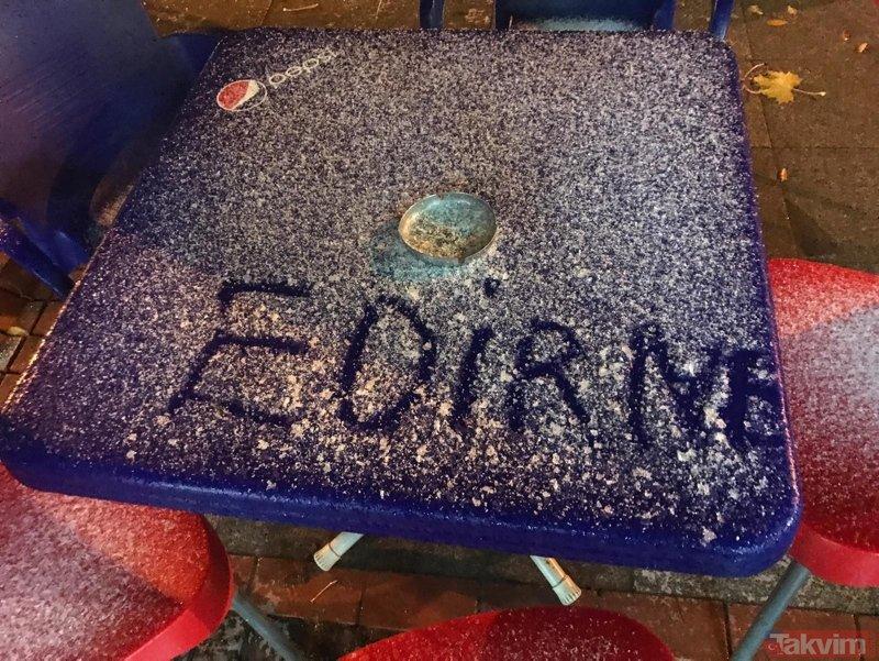 Kar yağışı yurda giriş yaptı! Edirnede kar yağışı başladı...