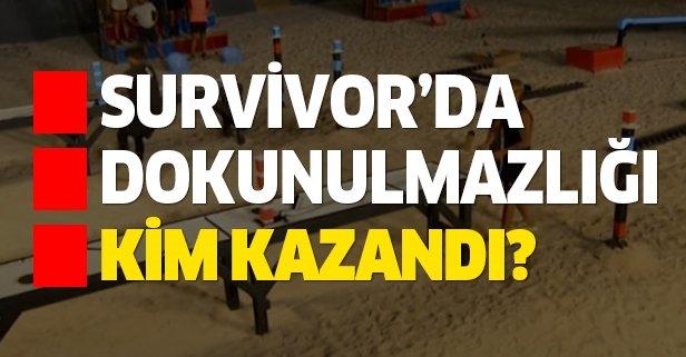 Survivor dokunulmazlık oyunu kim kazandı?