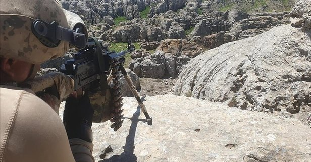 Saldırı hazırlığındaki 3 PKK'lı terörist artık yok