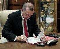 Başkan Erdoğan'dan atama kararları