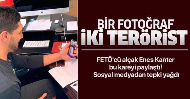 FETÖ'cü hain Enes Kanter teröristbaşı ile görüştü
