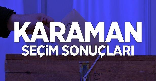 31 Mart Karaman yerel seçim sonuçları