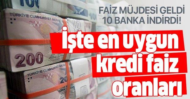 Bankalardan faiz müjdesi! 10 bankadan kredi faiz oranları indirimi