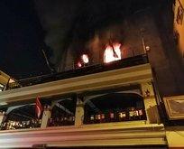 Kadıköy'de muhasebe ofisinde yangın!