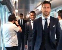 İstanbul için yola çıkan Real Madrid'de dikkat çeken görüntü!