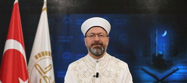 Diyanet İşleri Başkanı Erbaş'tan İzmir'deki cami provokasyonuna tepki: Bu suçu işleyenler inşallah en kısa zamanda bulunur