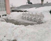Kardan yaptılar! Gören bir daha bakıyor