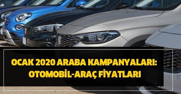 Ocak 2020 araba kampanyaları: Otomobil-araç fiyatları