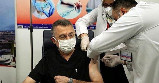 Fuat Oktay koronavirüs aşısı oldu