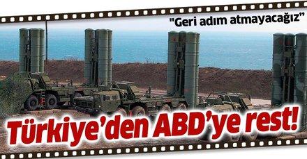 Son dakika haberi: Türkiye'den ABD'ye S-400 resti: Geri adım atmayacağız