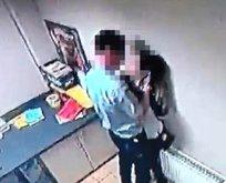 Market çalışanlarının uygunsuz davranışları kameralara böyle yansıdı