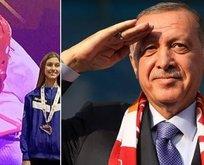 Milli sporcu Meryem İyin, Başkan Erdoğan'a selam çaktı