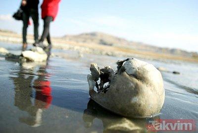 Van Gölü'nde korkutan görüntü! Suların çekilmesiyle ortaya çıkanlar şoke etti!