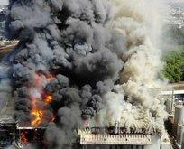 Tuzla'da bir fabrikada yangın!