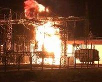 Trafo yangını! İki ilçede elektrikler kesildi