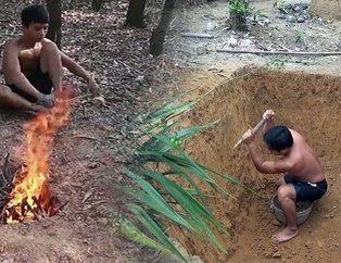 Ormanda yaptıklarıyla tüm dünyayı kendine hayran bıraktı!