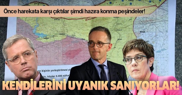 Almanya Türkiye'nin terörden temizlediği bölgelere göz dikti!