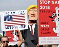 Brükselde Trump Protestosu