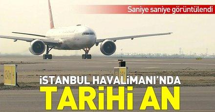 Son dakika: İstanbul Havalimanında tarihi an! İlk tarifeli uçuş başladı