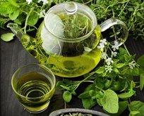 Yeşil çayla keskin dişler