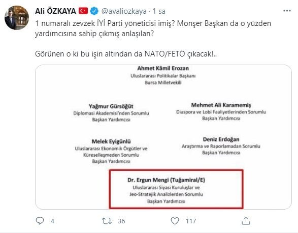 Bildirinin 1 numarası olan Ergun Mengi, İYİ Parti Genel Başkanı Meral  Akşener'in yardımcısı çıktı - Takvim