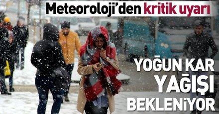 Meteoroloji'den son dakika o illerimiz için yağışı uyarısı! İstanbul'da hava durumu nasıl olacak? (28 Ocak 2019)