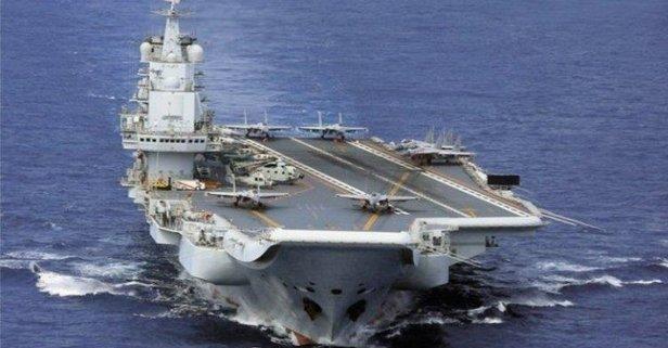 Japonya açıkladı! Çin'in uçak gemisi