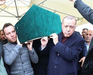 Başkan Erdoğan aile dostunun cenazesine katıldı