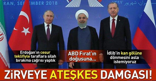 Başkan Erdoğandan İdlib için ateşkes çağrısı