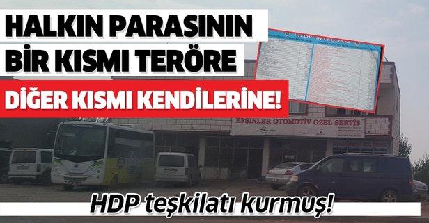 HDP teşkilatı kurmuş! Belediye gelirlerinin bir kısmı teröre diğer kısmı kendilerine!