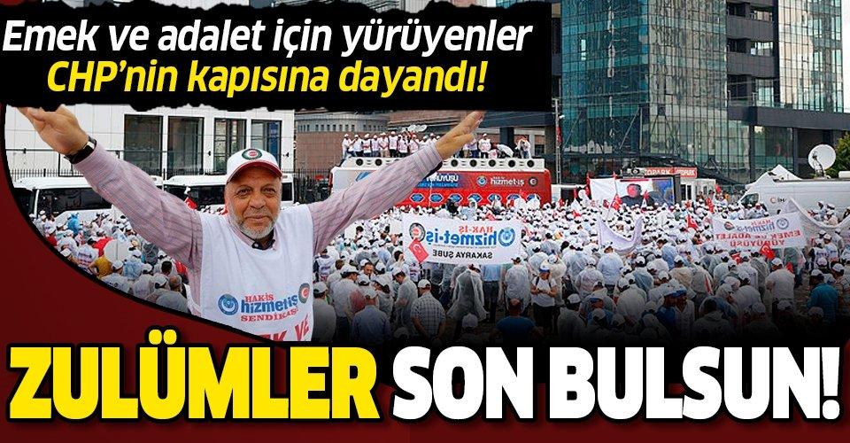 CHP Genel Merkezi'nin kapısına dayandılar: Zulümler son bulsun