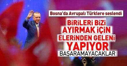 Cumhurbaşkanı Erdoğan Avrupalı Türk Demokratlar Birliği'nin 6. Olağan Genel Kurulu'nda konuştu
