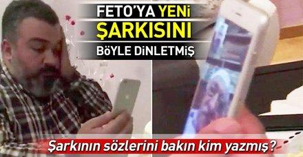 FETÖ'den aranan türkücü, terörist elebaşı Gülen'e yeni şarkısını dinletmiş