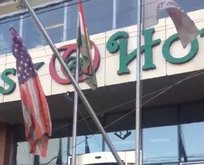 Barzani yanlıları ABD bayrağını da indirdi