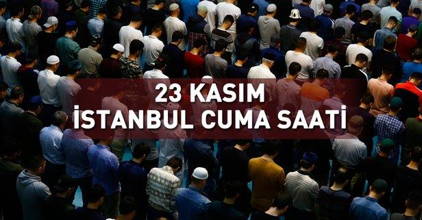 İstanbul'da cuma namazı vakti saat kaçta?