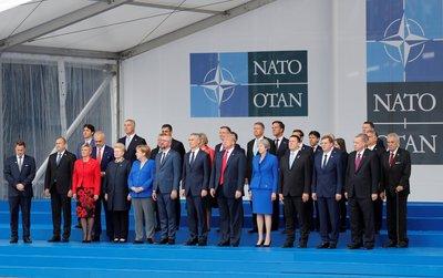 Başkan Erdoğanın da katıldığı NATO zirvesinden ilk kareler