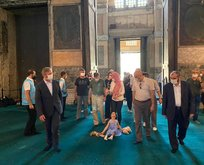 Ayasofya'ya önemli ziyaret