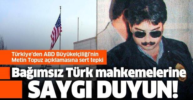 Türkiye'den Topuz kararını eleştiren elçiliğe tepki