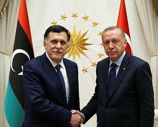 Başkan Erdoğan Al Sarraj'ı kabul etti