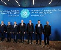 Türk Konseyi 7. Zirvesi'nde aile fotoğrafı
