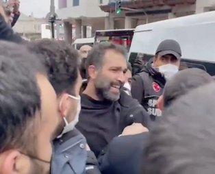 Milletvekili görünümlü militan Barış Atay! Boğaziçi provokasyonlarında görevi başındaki polisimize alçakça saldırdı...
