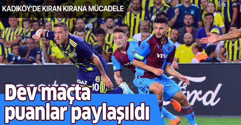 Fenerbahçe 1-1 Trabzonspor   MAÇ SONUCU