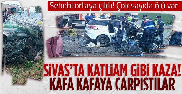 Sivas'ta feci kaza: Çok sayıda ölü ve yaralı var
